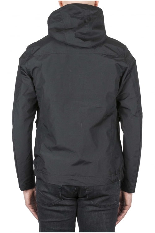 SBU 01557_19AW Technical waterproof hooded windbreaker jacket black 01
