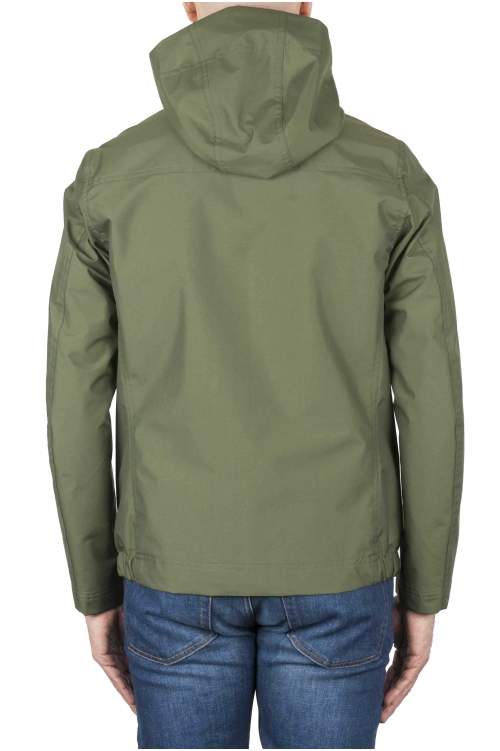 SBU 01558_19AW Technical waterproof hooded windbreaker jacket green 01