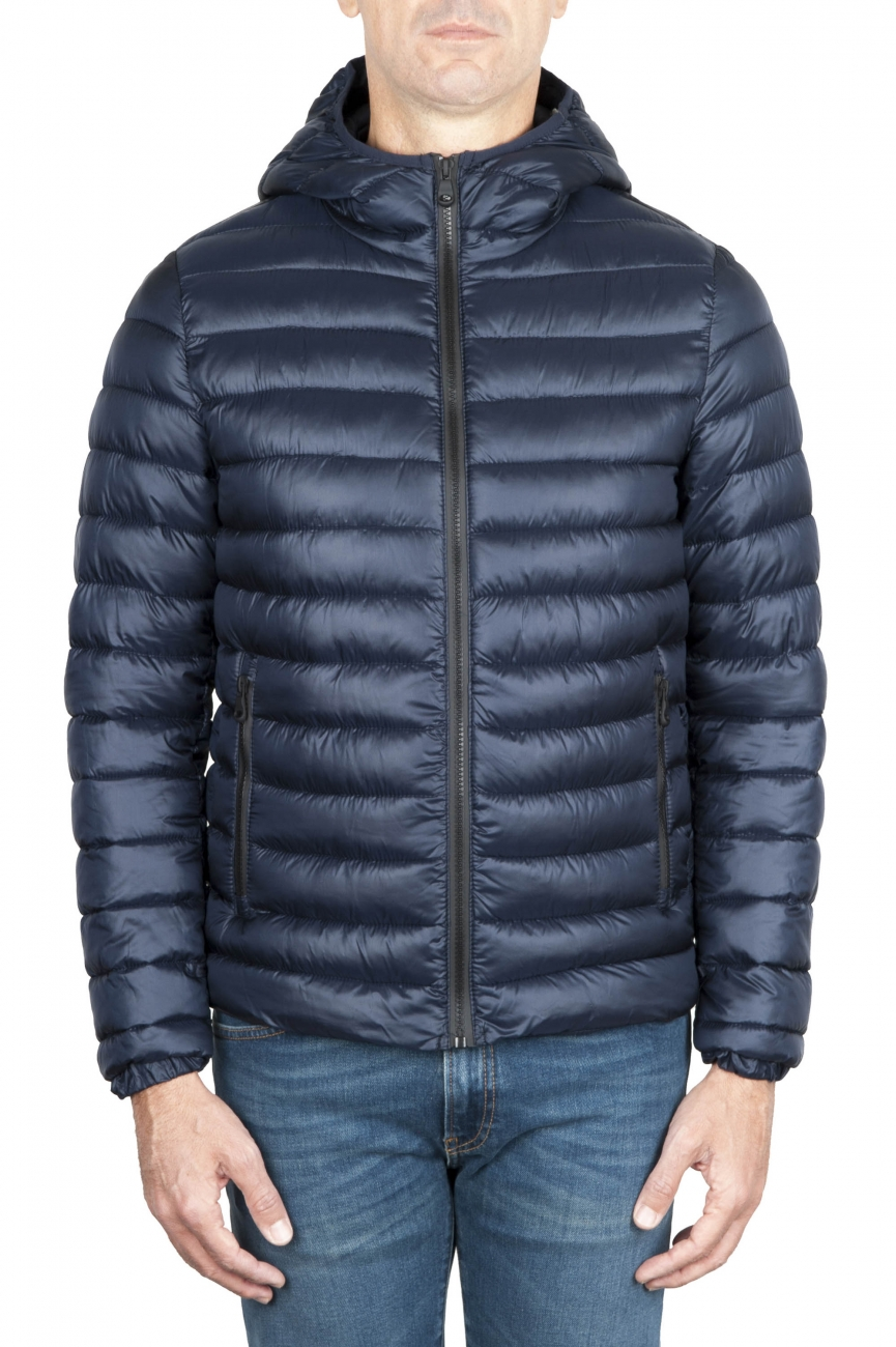 SBU 01584_19AW Thermic insulated hooded down jacket blue 01