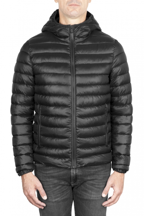 SBU 01586_19AW Thermic insulated hooded down jacket black 01