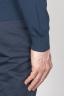SBU - Strategic Business Unit - Classic V Neck Sweater In Blue Cotton
