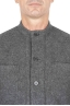 SBU 01326_19AW Grey mandarin collar sartorial work jacket 04