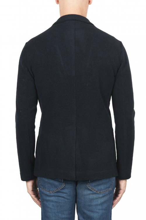 SBU 01334_19AW Black wool blend sport jacket unconstructed and unlined 01