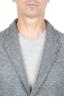 SBU 01336_19AW Chaqueta deportiva gris en mezcla de lana desestructurada y sin forro 04