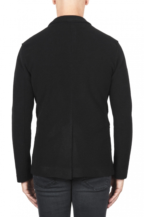 SBU 01337_19AW Black wool blend sport jacket unconstructed and unlined 01