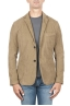 SBU 01440_19AW Stretch cotton sport blazer beige unconstructed and unlined 01