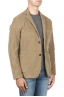 SBU 01440_19AW Stretch cotton sport blazer beige unconstructed and unlined 02