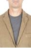 SBU 01440_19AW Blazer de sport beige en coton stretch non structuré ni doublé 04