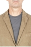 SBU 01440_19AW Stretch cotton sport blazer beige unconstructed and unlined 04