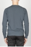 Classic V Neck Sweater In Grey Cotton