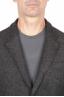 SBU 01442_19AW Veste de sport marron en laine mélangée non construite et non doublée 04