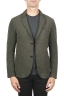 SBU 01443_19AW Green wool blend sport jacket unconstructed and unlined 01