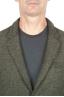 SBU 01443_19AW Chaqueta deportiva verde en mezcla de lana desestructurada y sin forro 04