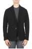 SBU 01446_19AW Black stretch cotton sport blazer unconstructed and unlined 01