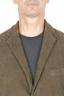 SBU 01447_19AW Blazer de sport vert en coton stretch non structuré ni doublé 04