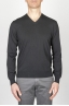 SBU - Strategic Business Unit - Classic V Neck Sweater In Black Cotton