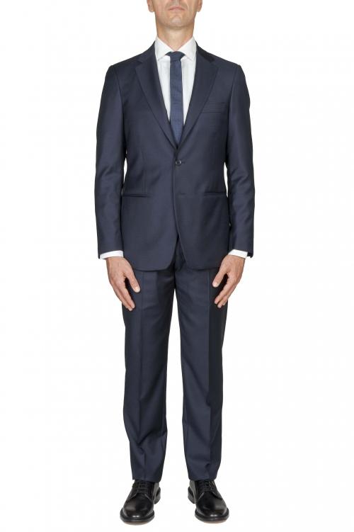 SBU 01056_19AW Abito blue in fresco lana completo giacca e pantalone 01