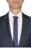 SBU 01056_19AW Blazer y pantalón formal de lana fresca azul para hombre 05