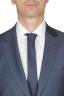 SBU 01050_19AW Blazer et pantalon de costume bleu en fresco de laine pour hommes 05