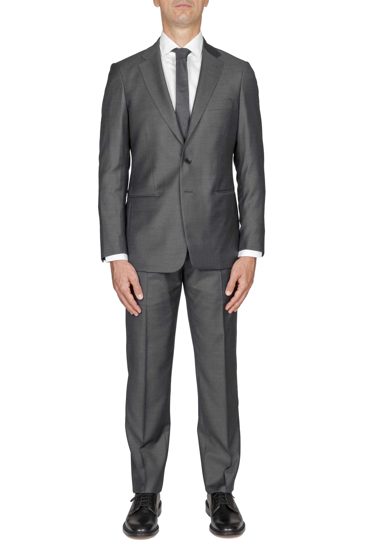 SBU 01051_19AW Abito grigio in fresco lana completo giacca e pantalone 01
