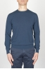 SBU - Strategic Business Unit - Classic Crew Neck Sweater In Blue Cotton