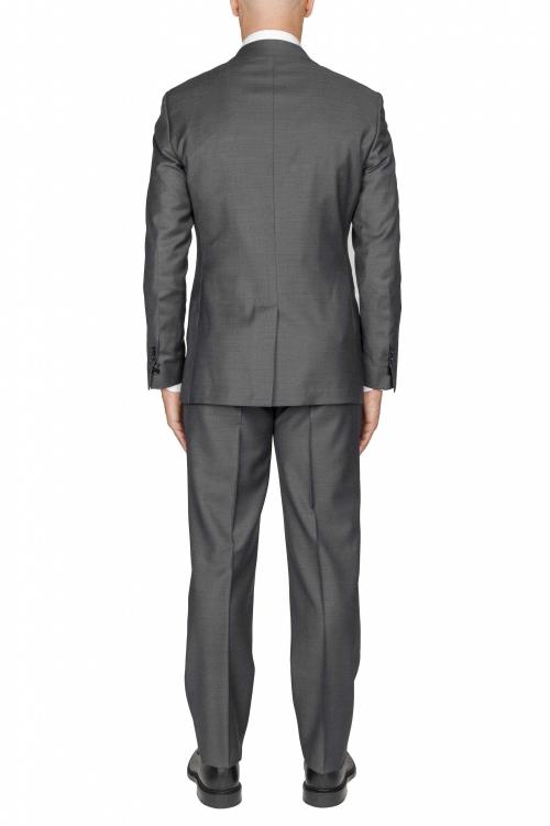 SBU 01051_19AW Blazer y pantalón formal de lana fresca gris para hombre 01