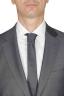 SBU 01051_19AW Blazer et pantalon de costume gris en fresco de laine pour hommes 05