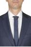 SBU 01053_19AW Blazer et pantalon de costume bleu en fresco de laine oeil de perdrix pour hommes 05