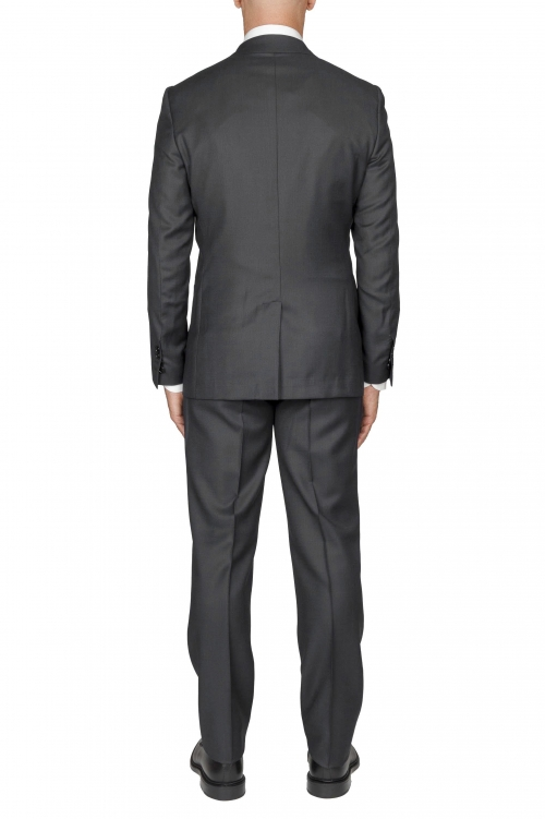 SBU 01054_19AW Men's grey cool wool formal suit partridge eye blazer and trouser 01