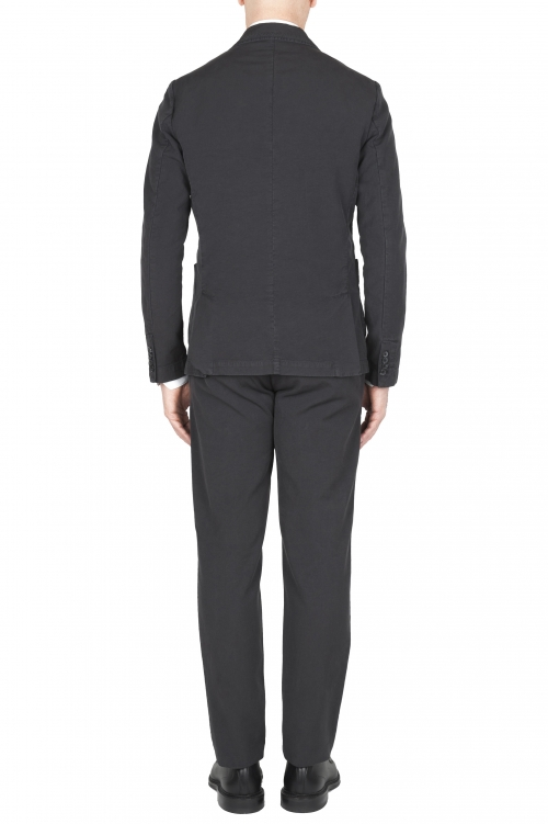 SBU 01741_19AW Anthracite cotton sport suit blazer and trouser 01