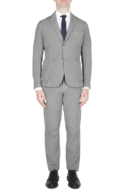 SBU 01743_19AW Grey cotton sport suit blazer and trouser 01