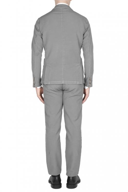 SBU 01743_19AW Abito in cotone completo di giacca e pantalone grigio 01