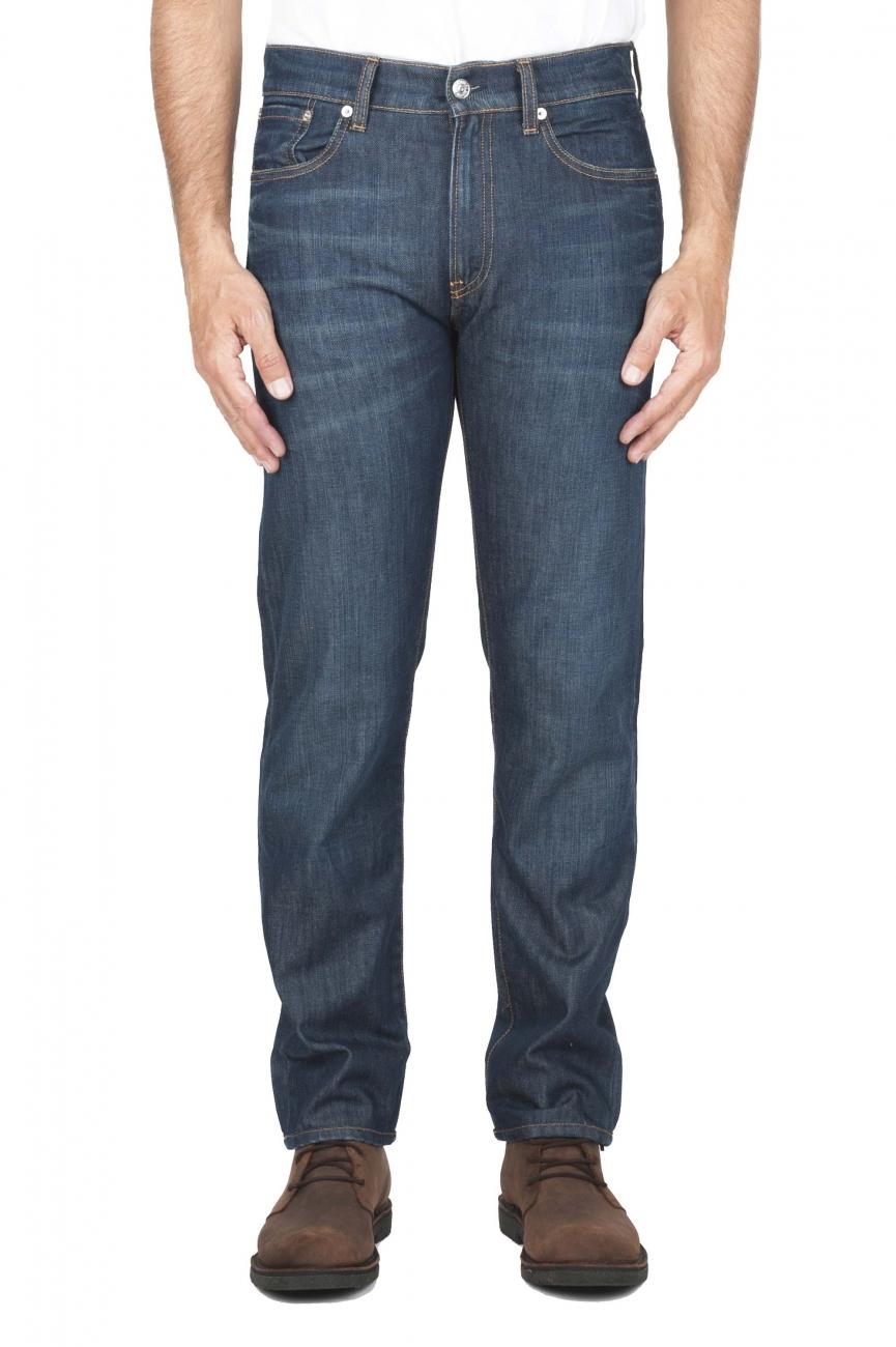 SBU 01448_19AW blu jeans stone washed in cotone organico 01
