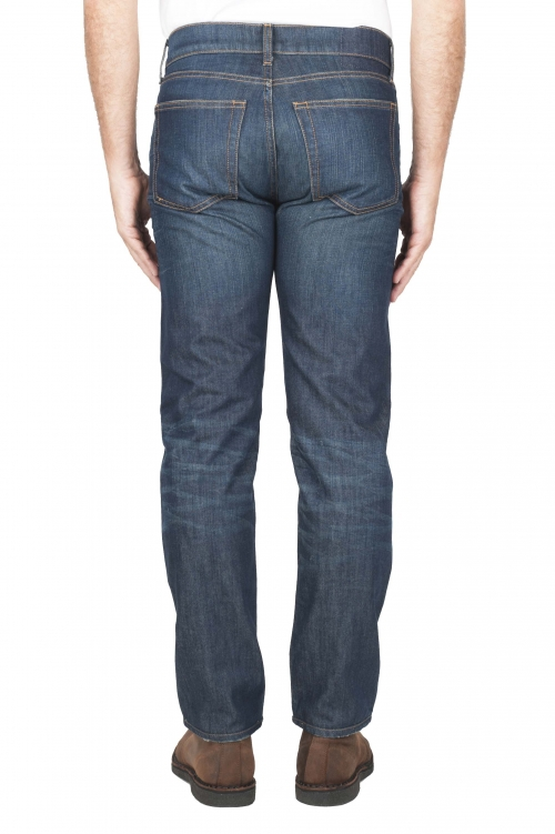 SBU 01448_19AW Stone washed organic cotton denim blue jean 01