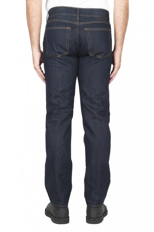 Jeans á lisière indigo