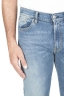 SBU 01450_19AW Pure indigo dyed stone bleached stretch cotton blue jeans 04