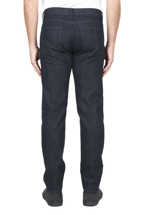SBU 01451_19AW Natural indigo dyed washed japanese stretch cotton selvedge denim jeans 01