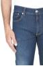 SBU 01453_19AW Pantalones vaqueros de algodón elástico lavados usados añil puro 04