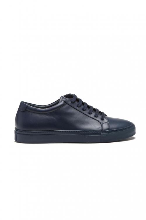 SBU 01525_19AW Sneakers stringate classiche di pelle blu 01