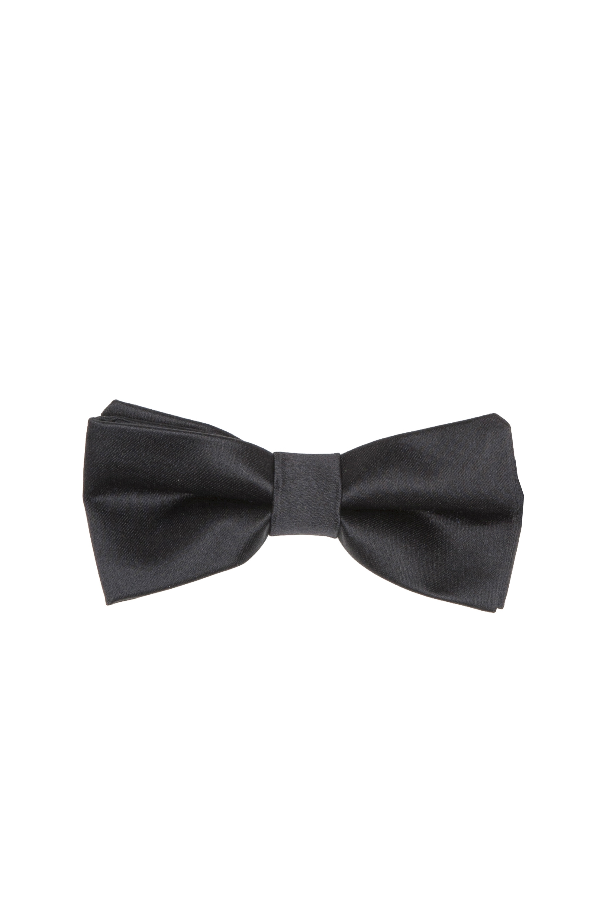 SBU 01030_19AW Classic ready-tied bow tie in black silk satin 01