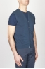 SBU - Strategic Business Unit - Classic Cotton Knit Blue Sleeveless Cardigan Vest
