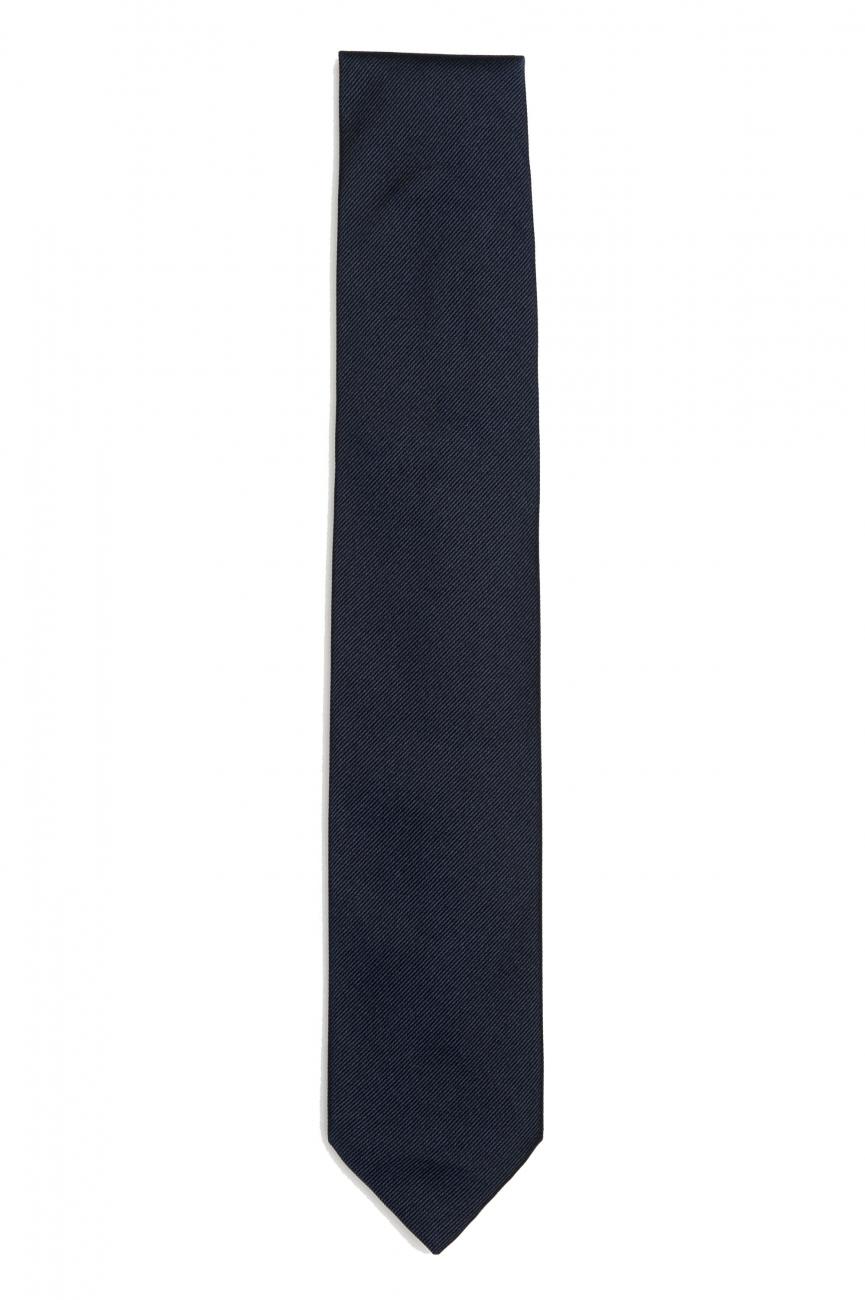 SBU 01572_19AW Classic skinny pointed tie in black silk 01