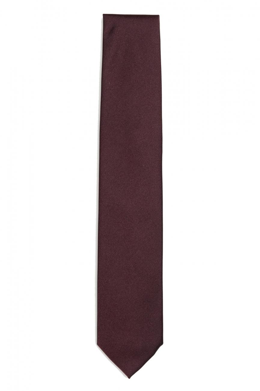 SBU 01573_19AW Cravate classique en soie rouge 01
