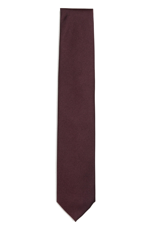 SBU 01573_19AW 赤い絹の古典的な痩せた指のネクタイ 01