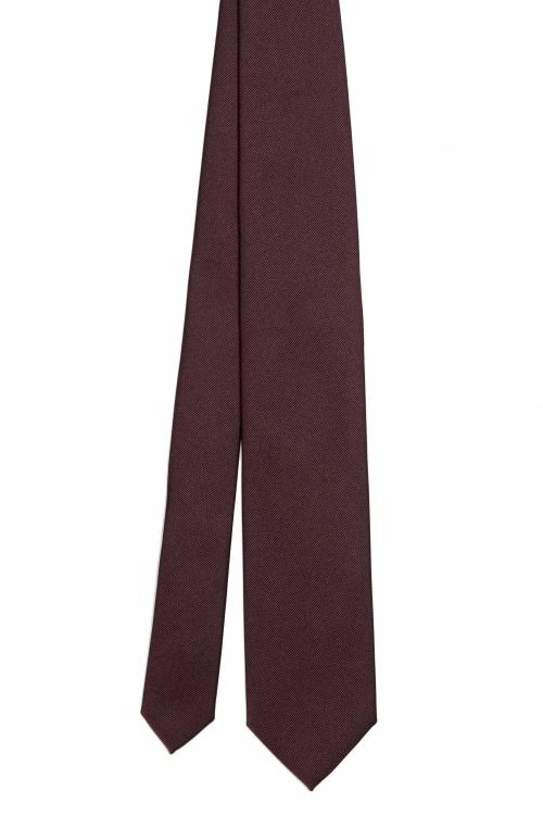 SBU 01573_19AW Cravatta classica skinny in seta rossa 01