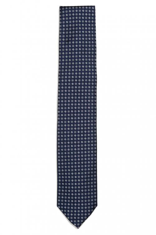 SBU 01576_19AW Cravatta classica in seta realizzata a mano 01