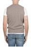 SBU 01483_19AW Beige round neck merino wool and cashmere sweater vest 05