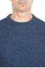 SBU 01468_19AW Suéter azul de cuello redondo en lana boucle merino extra fina 04