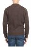 SBU 01469_19AW Suéter marrón de cuello redondo en lana boucle merino extra fina 05
