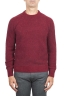 SBU 01472_19AW Maglia girocollo in lana merino bouclé extra fine rossa 01